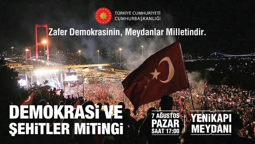 Demokrasi ve Şehitler Mitingi - HABERLER - İSDÜŞÜM | İstanbul Düşünce ve Medeniyet Derneği